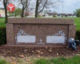Розового гранита 2 Crypt частных мавзолей стоимость мемориальный парк кладбище