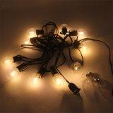 Luz de LED romântica decoração exterior G40 Lâmpada Globo Luz String/ Branco Quente 18FT