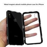 Металлические магнит поглощать прозрачный чехол для мобильного телефона закаленное стекло для iPhone