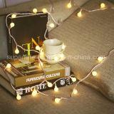 Romantisches batteriebetriebenes wasserdichtes Weihnachten verzierte Draht-Zeichenkette-Lichter