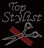 Top estilista Hotfix Cabelo Rhinestone transferir para a T-shirt personalizada