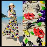 Polyester-nachgemachter weicher Silk Satin-Chiffon- Gewebe mit Digital-Druck für Kleid-Polyester-Gewebe