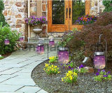 LEUCHTKÄFER-Glas-Lichter des Himmelskörper-flackernde romantische LED Solarfür Säubern-Dekoration