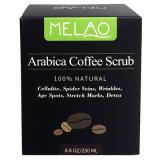 El café arábica Scrub con café orgánico, coco y mantequilla de shea
