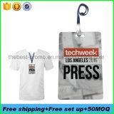 PVC d'impression numérique des badges de presse pour la conception libre d'événements spéciaux
