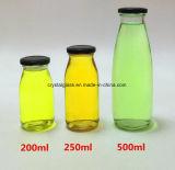 O design engraçado frasco de vidro de leite de impressão