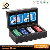 Набор игр Backgammon упаковки из натуральной кожи