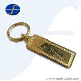 Anello portachiavi su ordinazione di Keychain del metallo della modifica della targhetta