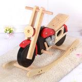 Motociclo de madeira Rocking Horse brinquedo para crianças