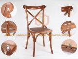 خشب وراتينج صليب ظهر كرسي تثبيت عرس كرسي تثبيت