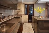 Mobília lustrosa elevada Yb1707041 da cozinha da alta qualidade nova do projeto