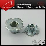 En acier au carbone de la farine de galvanisé Claw écrous avec écrou d'insertion Pronges