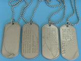 Etiqueta de perro militar del metal de encargo