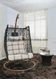 現代テラスの家具のハングの卵の振動椅子は平和を楽しむ