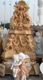Резные мраморные стены фонтан
