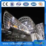 一つにまとめ上げられたカーテン・ウォールシステム、アルミニウムカーテン・ウォールシステムの、鋼鉄およびステンレス鋼フレームのカーテン・ウォール
