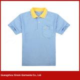 Projeto uniforme da camisa de polo do bordado feito sob encomenda do preto do Mens (P35)