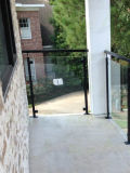 Перила магазина нутряные & части лестницы с Baluster нержавеющей стали и Tempered стеклом