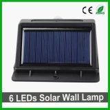 Resistente al agua de buena calidad 20LED LED Solar jardín lámpara de pared con Sensor PIR