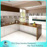Governo di legno su ordinazione moderno modulare degli armadi da cucina