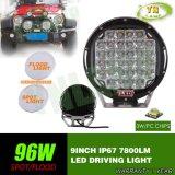 luz de condução Offroad da lâmpada do trabalho do diodo emissor de luz do CREE da peça de automóvel de 9inch 96W