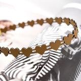 Collier de foulard de cuir de coeur de Brown pour des filles de femmes