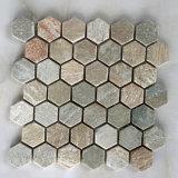 Diseños naturales de mosaico de pizarra para pared (SMC-SMP143)