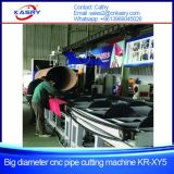 maquinaria de chanfradura da estaca de flama do plasma do CNC da tubulação de aço de grande diâmetro de 1000mm