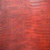 ワニのアニマル・スキン浮彫りにされたPU総合的な袋の方法靴革