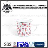 ヨーロッパ規格の高品質によってカスタマイズされるエナメルのミルクのコップ