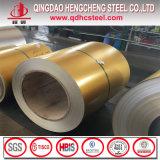 Bobine en acier de Galvalume d'or de couleur d'impression d'ASTM A792 Antifinger