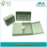 Costumbre chocolate Macaron caja de empaquetado con solapa caja de papel embutido Dos