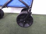 Vagão de serviço público da praia Foldable com rodas grandes