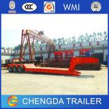 Árboles resistentes de la fábrica 3 del acoplado precio plano del acoplado del carro de Lowboy Bowbed de 60 toneladas semi