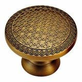 Perno e maniglia d'ottone forgiati solidi della mobilia con la riga reticoli dell'oro