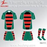 Healong 스포츠 커트는 승화해 꿰매고 럭비 셔츠를 인쇄한
