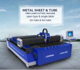 Machine de découpage de laser de fibre de plaques et de pipes en métal Lm3015m avec le certificat de la CE