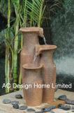Forme de pot Polyresin Indoor Table Top Fontaine à eau avec LED