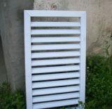 Guichet en aluminium installé extérieur d'obturateur de roulement