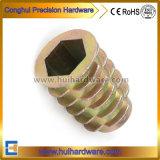 La couleur du bois en alliage de zinc plaqué zinc insérer l'écrou M6/M8/M10