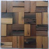 Mosaico de madera de la decoración del restaurante
