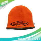 Chapeau tricoté par Beanie acrylique personnalisé/chapeaux de couleur solide avec la broderie (002)