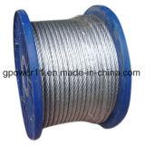 Fio de aço galvanizado do fio do cabo da costa do fio de indivíduo da bobina do aço de carbono da alta qualidade