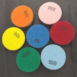 3 pouces de 15mm Velcro plancher de béton sec des plaquettes de polissage de résine