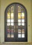 porta de entrada francesa da parte dianteira do estilo do ferro moderno para a loja