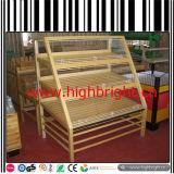 Soporte de visualización de madera de la panadería de los dispositivos del almacén del supermercado