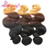 Pode ser o Weave malaio do cabelo humano de Ombre da cor