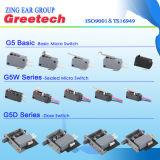 Impermeável e à prova de poeira Reliable Contact Micro Switch