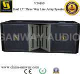 Doble de 15 pulgadas Altavoz Etapa Top Pro Audio Line Arrays