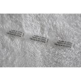 Impressão impermeável Lavagem de etiquetas de cuidados para roupas